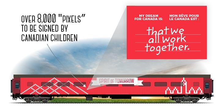 明日精神號是加拿大建國 150活動列車
