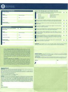 美國入境I-94W背面範例 HelloStudy提供