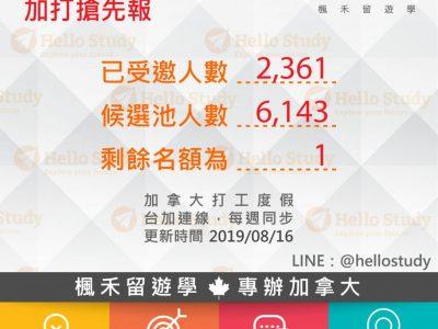 【2019加打搶先報】每年最難熬尾聲1名額